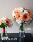 GERBERA BRIDESMAID + BRIDE