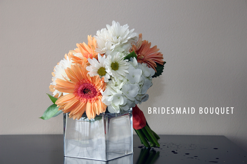 GERBERA BRIDESMAID BOUQUET