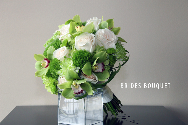 GREEN BRIDE BOUQUET