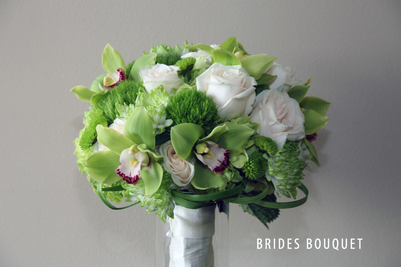 GREEN BRIDES BOUQUET 3