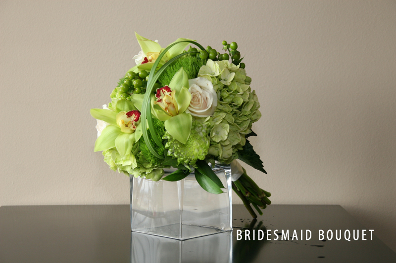 GREEN BRIDESMAID BOUQUET 2