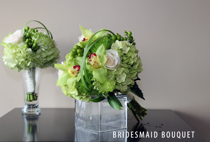 GREEN BRIDESMAID BOUQUET 3