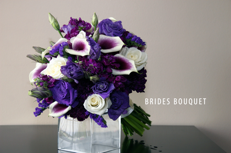 Majestic Purple Brides Bouquet