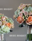 PEACH BRIDES + BRIDESMAIDS BOUQUET