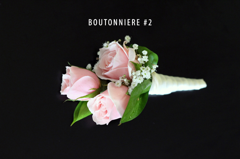 Blush Pink Boutonierre 2