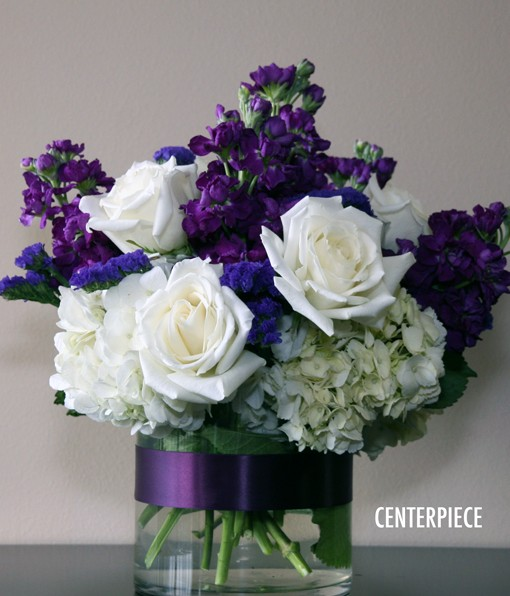 MAJESTIC PURPLE CENTERPIECE
