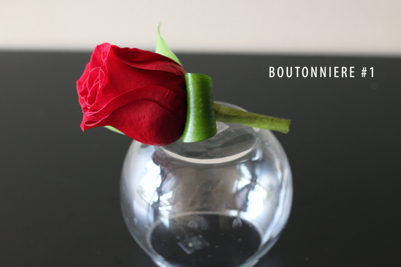 ROSE BOUTONNIERE #1